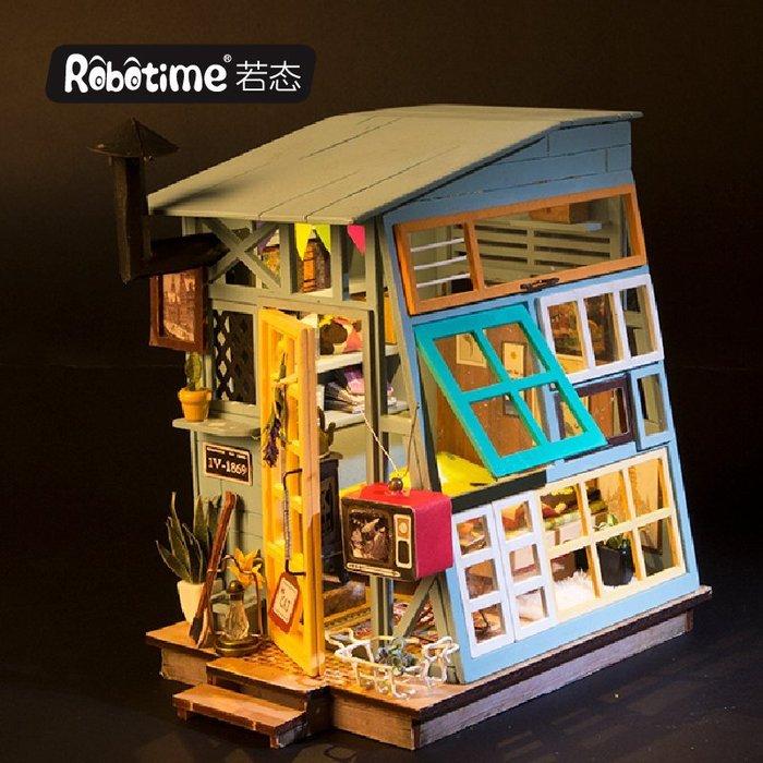 【童妡小屋】 浮世隱記 粗茶淡飯復古特色小屋 手作DIY小屋袖珍屋 創意生日禮物