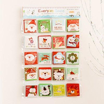 聖誕節禮物創意聖誕賀卡小卡片可愛插畫卡通雪人情侶留言卡祝福