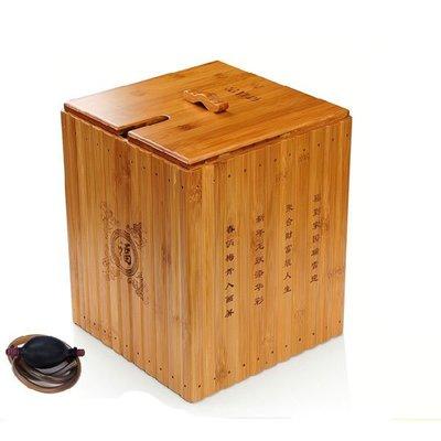 5Cgo【茗道】含稅會員有優惠  16426398538 功夫茶具孟宗竹茶水桶零配件茶盤排水桶茶渣桶高檔竹子茶桶茶道配件