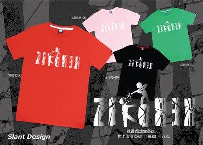 SLANT HERO&ZERO 無英雄 T-SHIRT 台灣自創品牌 純棉潮TEE 限量T恤 客製化T恤
