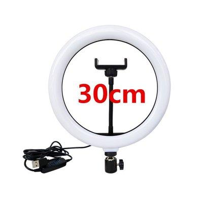 專業級網美 12寸30cm LED環形燈 直播架 三色調光打光燈 攝影燈 直播腳架 直播燈 補光燈腳架 美光燈