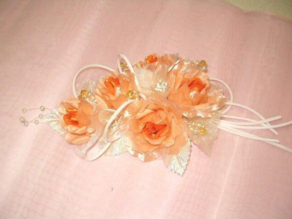 B. & W. world *美美的花飾*R13123*橘色、粉色、黃色、紅色紗玫瑰之花飾**喜氣十足**多用途