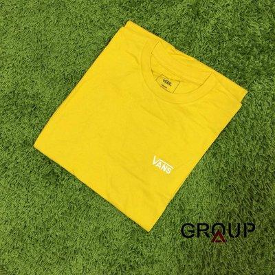 【GROUP A】Vans classic logo t shirt 芥末黃 白 小 Logo 短Tee 國外款