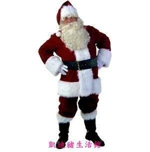 【凱迪豬生活館】聖誕老人服裝男 聖誕服裝 聖誕節服裝 聖誕衣服 豪華聖誕老人套裝 聖誕節必備!表演服聖誕服KTZ-201022