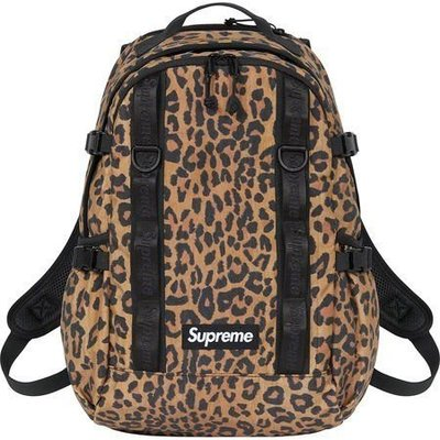 GOSPEL【Supreme 49th Backpack 】豹紋 後背包 SUP116