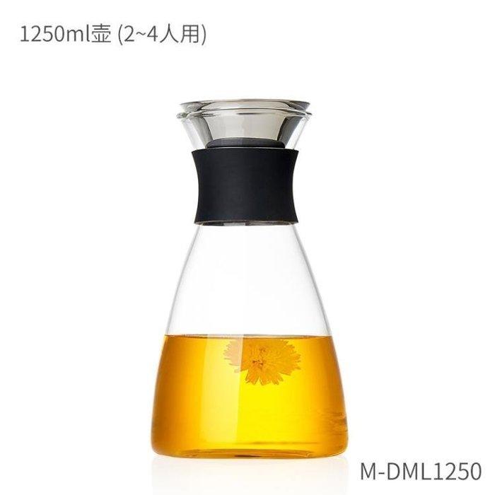 ☜男神閣☞美斯尼 玻璃涼水壺家用耐高溫水瓶防爆玻璃茶壺大容量果汁冷水壺