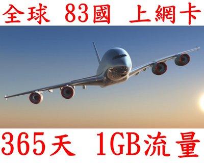 【杰元生活館】全球 83國 365日1GB流量 南美 中亞 杜拜上網卡 空服員 船員上網卡