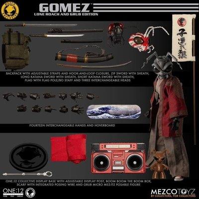 MEZCO One:12 Gomez Lone Roach & Grub 浪人螞蟻 官網限定