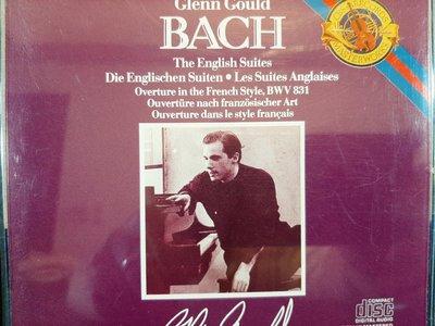Gould,J.S Bach-The English/French Suites,顧爾德,巴哈-英國/法國組曲,共二張專輯,共四片CD,不分售,如新。