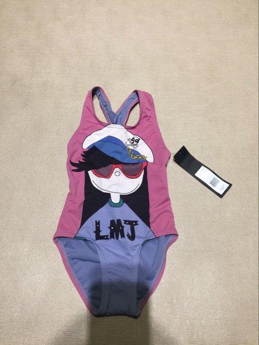 全新 Little Marc Jacobs 馬克小姐粉紫色連身泳裝👙 女童 吊牌未拆