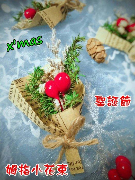 聖誕節 姆指花束 迷你花束 禮物 花束 乾燥花 禮盒 生日 禮物 情人節 甜筒花束 小花束 朵希幸福烘焙