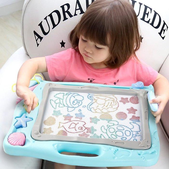 兒童畫畫板磁性寫字板寶寶嬰兒小玩具1-3歲2幼兒彩色加大號涂鴉
