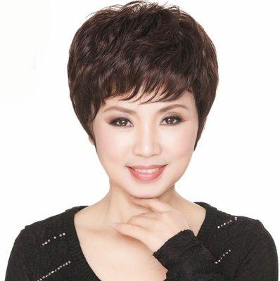 水媚兒假髮ZMF032HH♥新款女士真髮 時尚優雅 遮白髮 短髮♥ 預購 團購批發