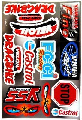 【高橋車部屋】大張彩貼 (10) 貼紙 機車 Monster 鬼爪 BWS 滑胎 越野 FOX ONE rockstar