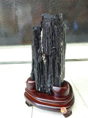 ~shalin-crysta~手握式~黑碧璽原礦~0.973公斤~招財納福~新陳代謝~能量優質~低價起標!