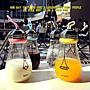 韓國潮流原宿個性電燈泡透明牛奶玻璃水瓶創意可愛學生男女水杯子馬克杯 冰淇淋杯