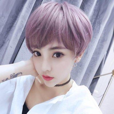 日系韓系可愛短直髮假髮女短假髮BOBO頭蓬鬆自然短捲髮