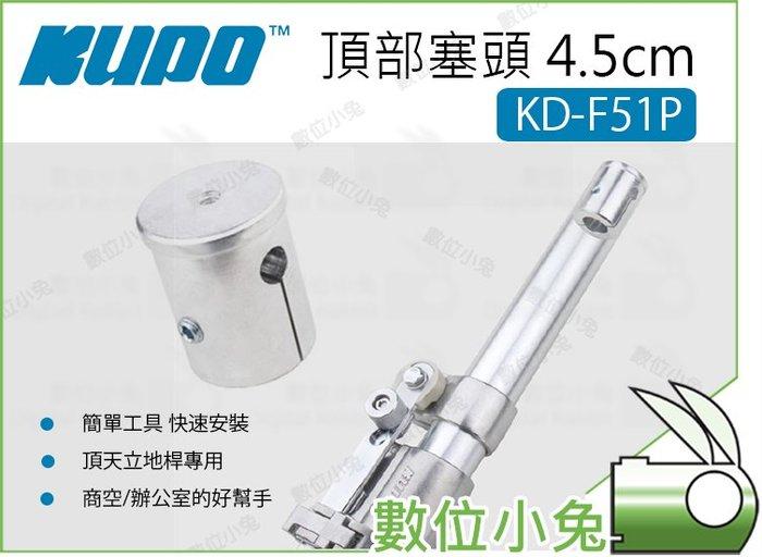 數位小兔【Kupo KD-F51P 頂部塞頭4.5cm】層架 配件 塞頭 頂天立地桿專用 鋁合金