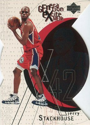(T)牛排店長 Jerry Stackhouse 1996-97 UD Generation Excitement