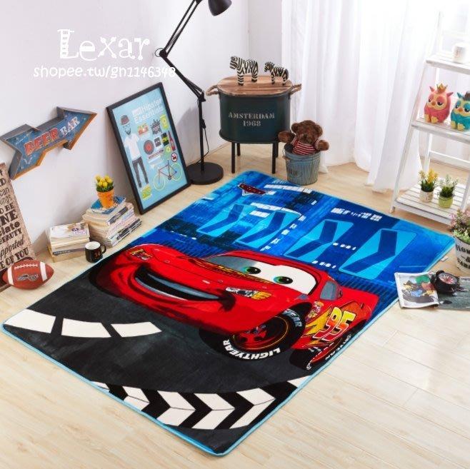 汽車總動員雲膚絨地墊kt地毯耐髒防滑加厚毛毯客廳臥室爬行瑜伽毯絨墊汽車總動員