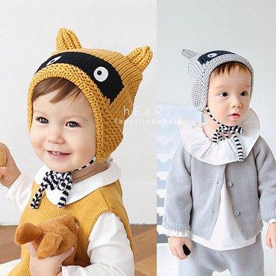 【可愛村】 蒙面狸貓保暖護耳針織帽 童帽 毛帽 毛線編織