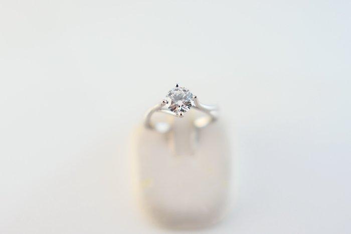 [吉宏精品交流中心]京華鑽石 GIA 天然鑽石 59分 D/VS1 3EX 八心八箭 白K金 戒指(盒卡全)