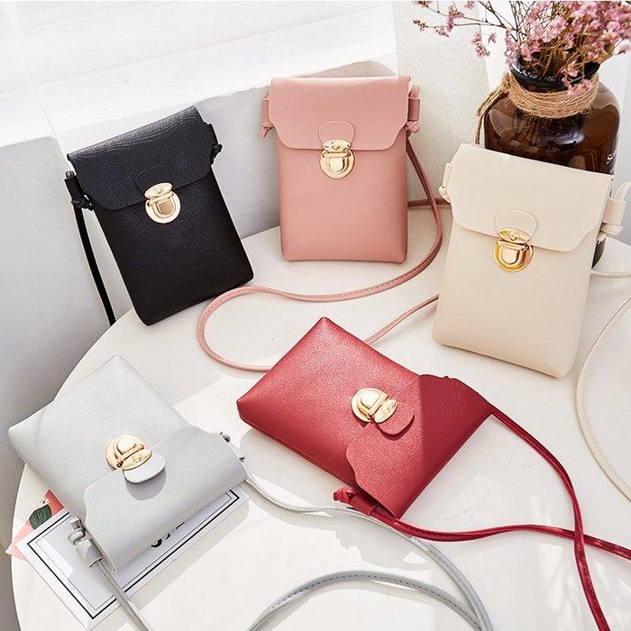 日韓新款女童包鎖扣休閒小方包單肩斜挎包手機包小包包潮