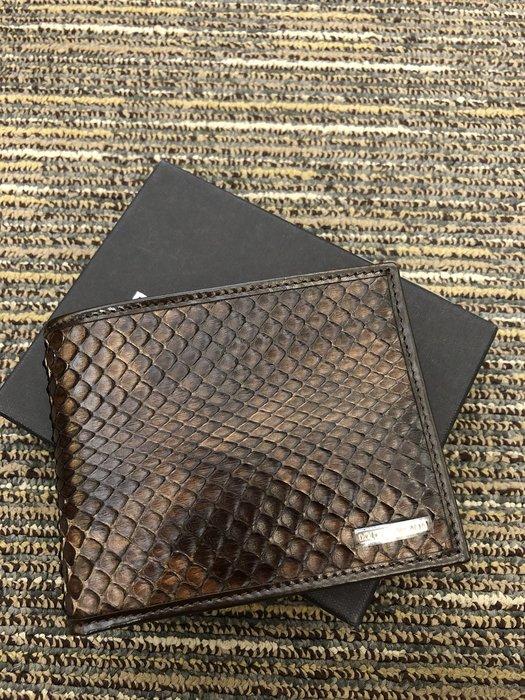 喬瑟芬【DOLCE&GABBANA】再殺賠售清倉$9900~2011秋冬 皮革壓紋 立體蛇紋 BP0457 短夾