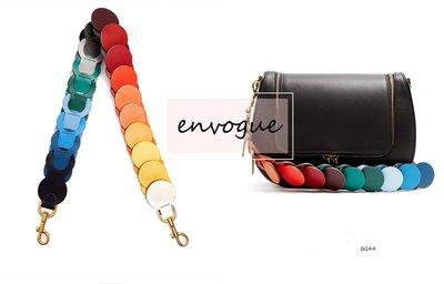 =envogue=BQ44漸層彩虹RAINBOW圓形包包揹帶 揹帶 寬肩揹帶 $890   Fendi類似款