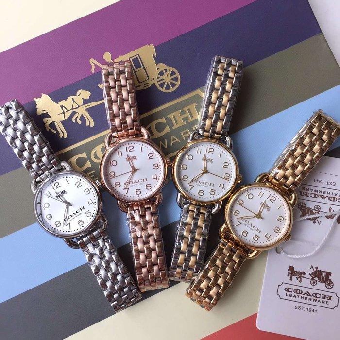 NaNa代購 COACH 四色可選 精美漂亮 石英手錶 氣質女款 附代購憑證