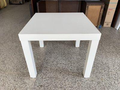 香榭二手家具*IKEA純白色 方形矮桌-小茶几-咖啡桌-几桌-客廳桌-咖啡桌-木桌-餐桌-和室桌-沙發桌-電腦桌-書桌