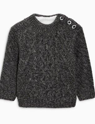 [VOGUE SHOP]NEXT高領麻花毛衣針織衫 灰色 全新