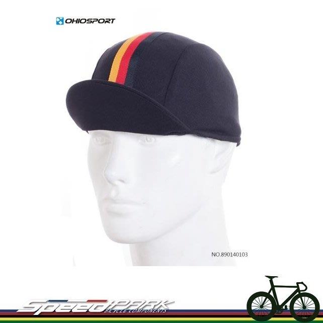 【速度公園】OHIOSPORT 單車小帽/黑底黃紅黑條紋/DEEP COOL吸濕排汗布/單尺寸/布帽 890140103