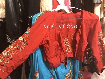 印度民俗風 紅色立體剪裁 精緻小外套 也可單穿