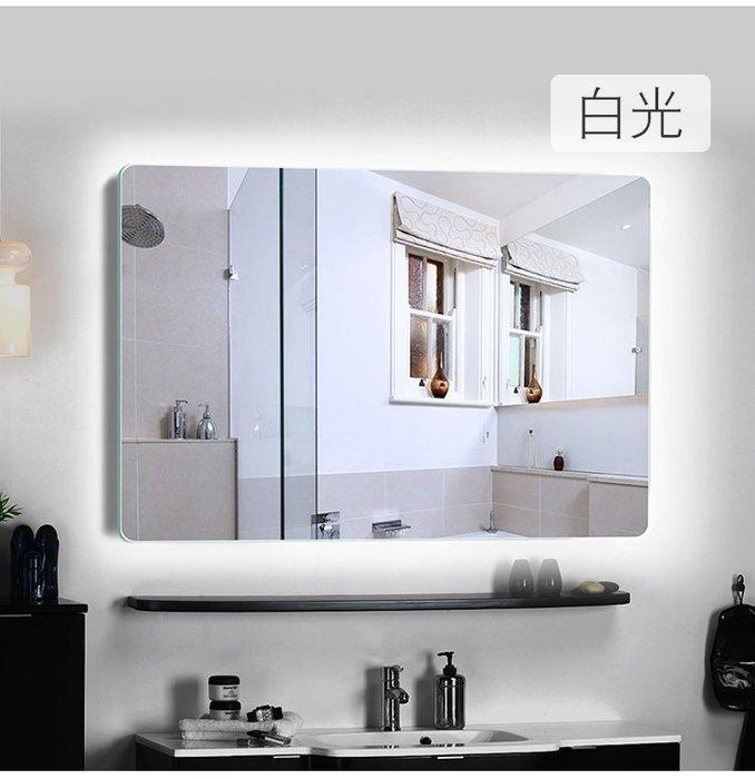衛生間鏡子壁掛led燈浴室鏡廁所鏡子洗漱臺洗手間衛浴鏡簡約化妝