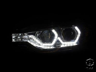 《※台灣之光※》全新BMW13 14 15 16 12年 F30 328美規鹵素升級晶鑽LED雙光版魚眼投射大燈組
