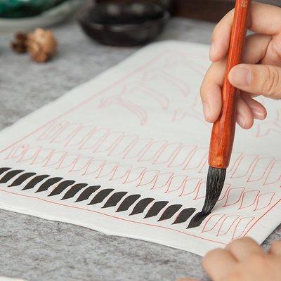 橙子的店 毛筆字帖入門初學者歐陽詢書法練習紙臨摹本軟筆作品紙小學生天天練中楷大楷歐體楷書筆畫描紅宣紙套裝