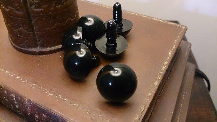 布偶水晶眼睛 黑豆眼 : 材料 布偶 眼睛 眼珠 水晶 娃娃 填充  製作
