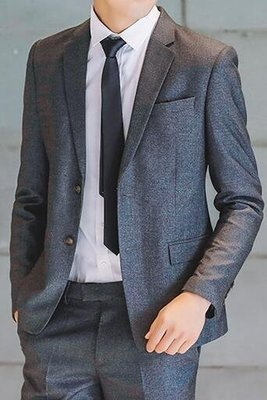 FINDSENSE品牌 英倫男 兩件式西裝外套 成套西裝 修身西裝 西裝外套 外套+褲子