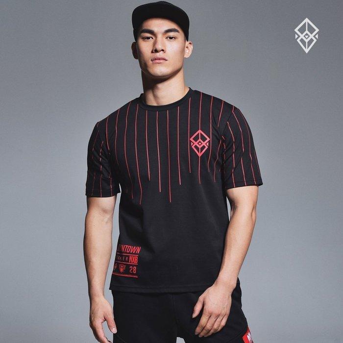 【OTOKO Men's Boutique】固制:有種部隊條紋厚磅寬鬆版短袖/黑色(台灣獨家代理)