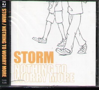 K - STORM - NOTHING TO WORRY MORE - 日版 - NEW