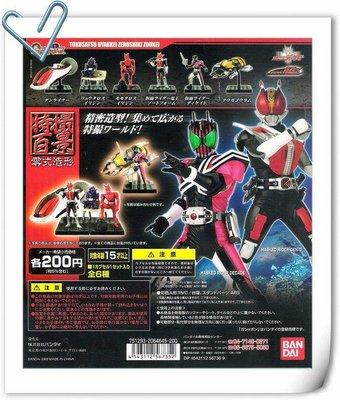 【奇蹟@蛋】BANDAI(轉蛋)假面騎士特攝百景-零式造型 全6種 整套販售
