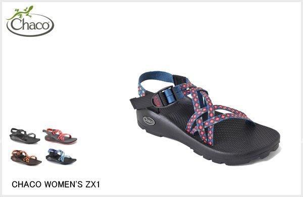 WaShiDa【CHC-ZX1】4-24 CHACO美國品牌 WOMEN'S ZX1 雙織帶 運動 涼鞋 戶外 現貨