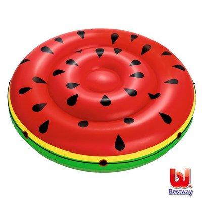 金潮派-Bestway。西瓜雙人水上充氣浮排/浮床/氣墊43140(69-39071)