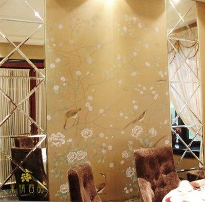 【芮洛蔓 La Romance】手繪絲綢壁紙 R05