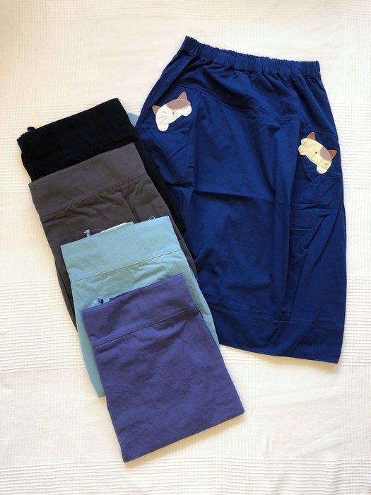 日本卡拉貓~GonPon醬造型中長裙 及膝裙