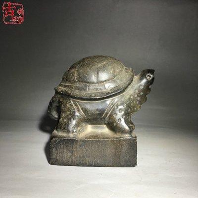 【禪源閣】仿古老青石玉烏龜壓石擺件 古玩古董雜項老物件收藏工藝擺件雜件GZZS-192
