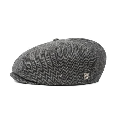 【ScrewCap】BRIXTON 加州品牌 BROOD SNAP CAP GREY/BLACK 復古 報童帽