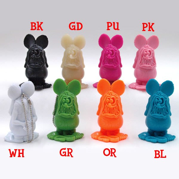 (I LOVE樂多)RAT FINK RF老鼠芬克公仔吊飾/腰際裝飾/擺飾 8種顏色供你挑選