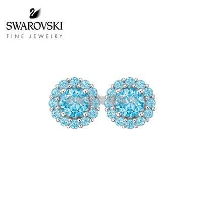 09432 耳環長0.5cm高級珠寶耳環 Pleasant 18K金托帕石鑽石耳釘女施華洛世奇飾品配件女耳環